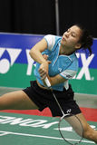 Badminton belgium woman speed action Royalty Free Stock Photography