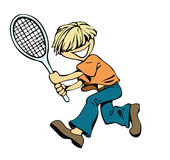 Badminton boy Stock Image