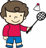 Badminton Boy Royalty Free Stock Photography