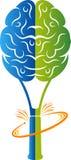 Badminton brain logo Royalty Free Stock Photography