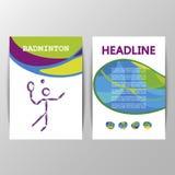 Badminton brochure template of games 2016 Summer Royalty Free Stock Image