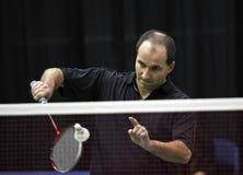 Badminton canada serve Stock Image