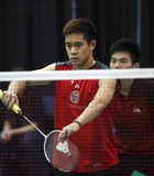 Badminton canada serve shuttle Stock Images