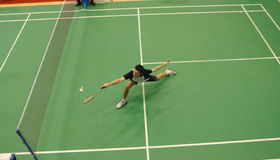 Badminton - Carl Baxter ENG royalty free stock photography