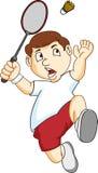 badminton chłopiec bawić się Obrazy Royalty Free
