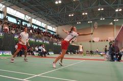 Badminton - Chris Adcock, Gabr Lizenzfreie Stockfotos