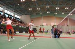Badminton - Chris Adcock, Gabr Royalty-vrije Stock Foto