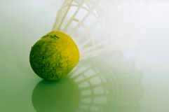 Badminton. Close up of an old badminton Royalty Free Stock Image