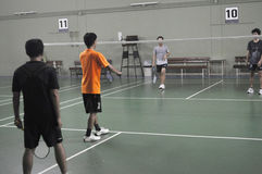 Badminton competition Stock Image