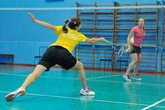 Badminton competition Royalty Free Stock Images