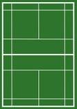 Badminton court Royalty Free Stock Photo