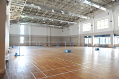 Badminton court Royalty Free Stock Images