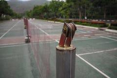Badminton court stock image