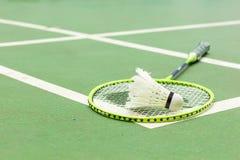 Badminton court. At the corner royalty free stock photos