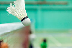 Badminton court. At the corner stock photography