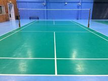 Badminton court. For exercise stock photo