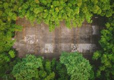 Badminton court. In the forest stock photo