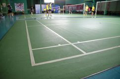 Badminton court Royalty Free Stock Photos