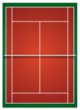Badminton court in orange  Stock Photography
