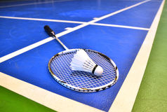 Badminton court Royalty Free Stock Image