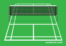 Badminton Court Vector Illustration Stock Images