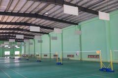 Badminton courts indoor Stock Image
