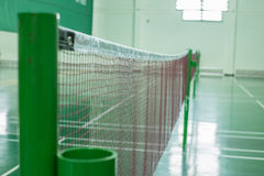 Badminton. Courts and net royalty free stock image