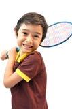 Badminton de jeu de garçon de sport Photos stock