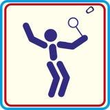 Badminton de jeu, icône, icône d'isolement Photo stock