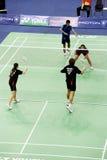Badminton dos dobros misturados Foto de Stock