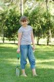 badminton dziewczyna Fotografia Royalty Free