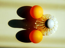 Badminton en pingpong royalty-vrije stock foto