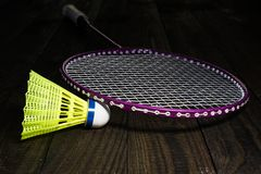 Badminton equipment Stock Image