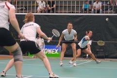 badminton fördubblar s-kvinnor Fotografering för Bildbyråer