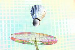 Badminton fantasy all over Royalty Free Stock Photos