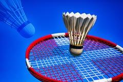Abstract badminton raket and shuttlecock royalty free stock photos