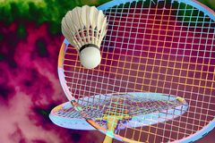 Badminton fantasy all over Royalty Free Stock Image