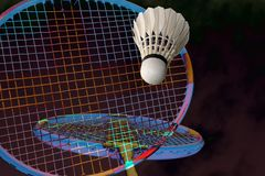 Badminton fantasy all over Royalty Free Stock Photo