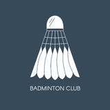 Badminton feathered shuttlecock icon. Creative logo template for badminton club. Vector flat illustration Stock Photos
