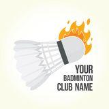 Badminton is on fire Royalty Free Stock Photos