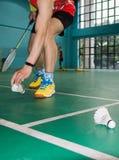 Badminton game Stock Photo