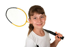 Badminton girl Stock Image