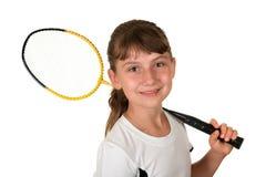 Badminton girl stock image