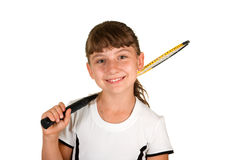 Badminton girl Stock Photos