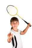 Badminton girl Royalty Free Stock Images