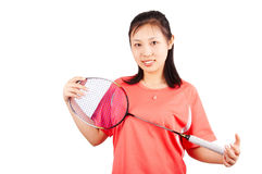 Badminton girl Royalty Free Stock Photography