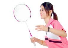 Badminton girls royalty free stock image
