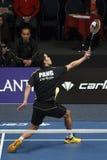 Badminton gracza Erick ssanie w żołądku Zdjęcia Royalty Free