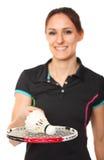 badminton gracza portret Obrazy Stock