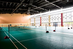 Badminton hall. With high ceiling and bright glass windows Stock Images